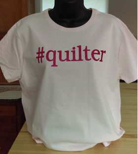 Hashtag Quilter pink